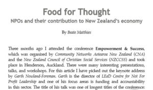 NPOs and NZ's Economy