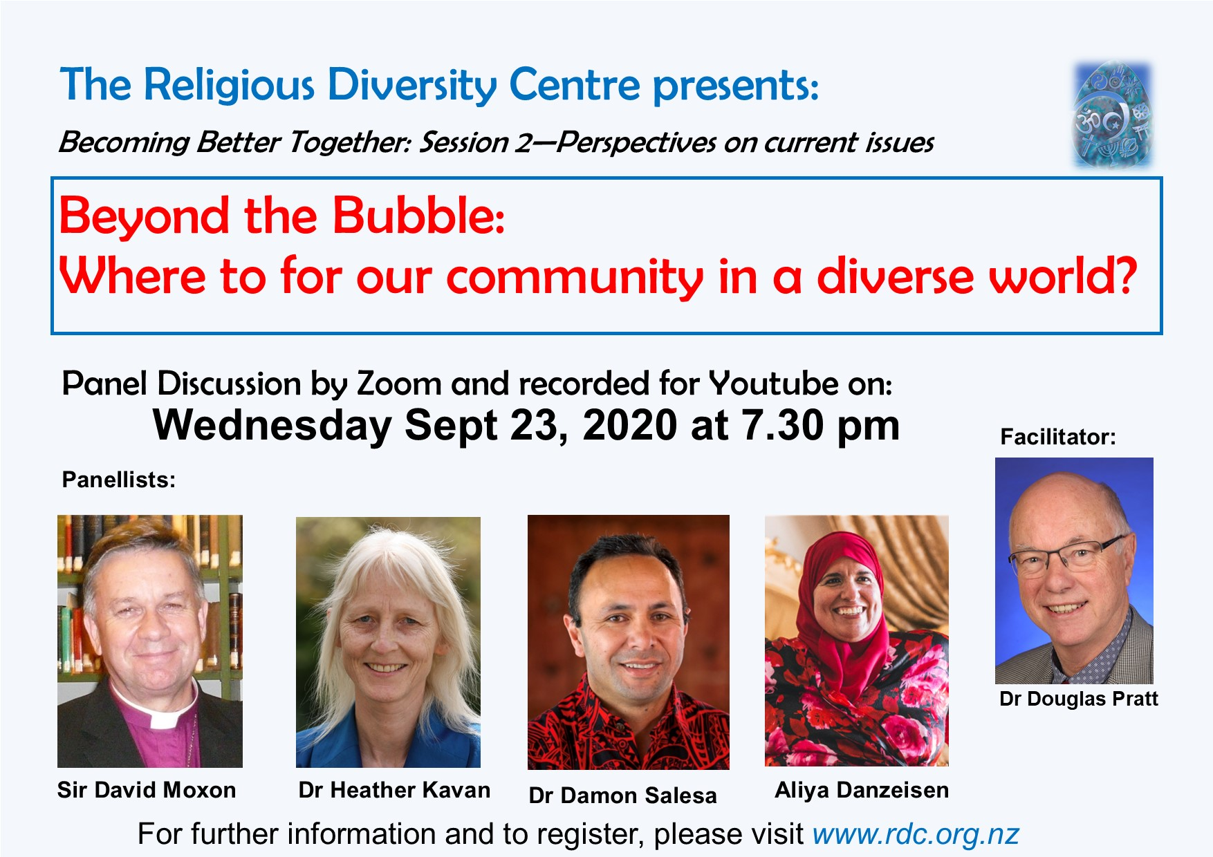 Webinar Series with the Religious Diversity Centre: Becoming Better Together – Perspectives on Current Issues