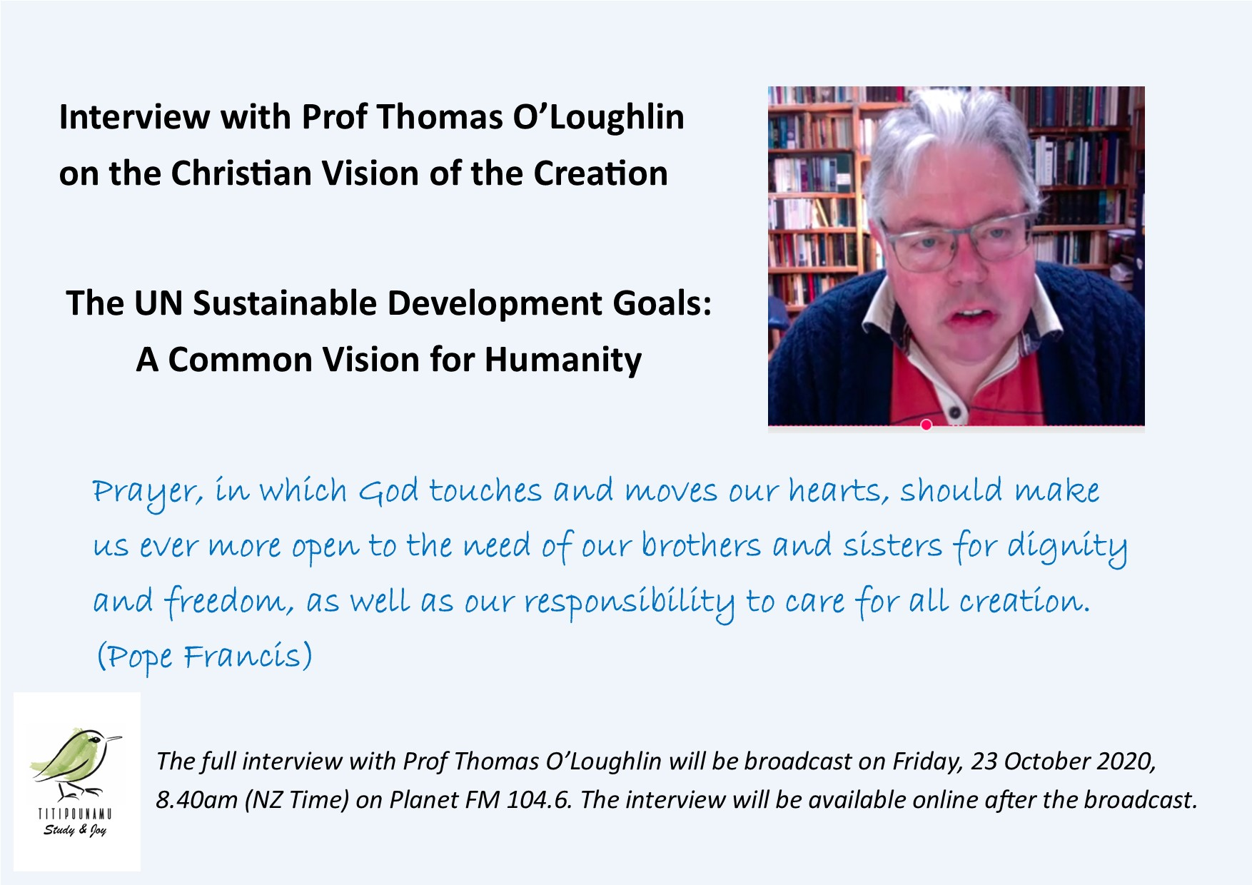 Interview with Prof Thomas O'Loughlin