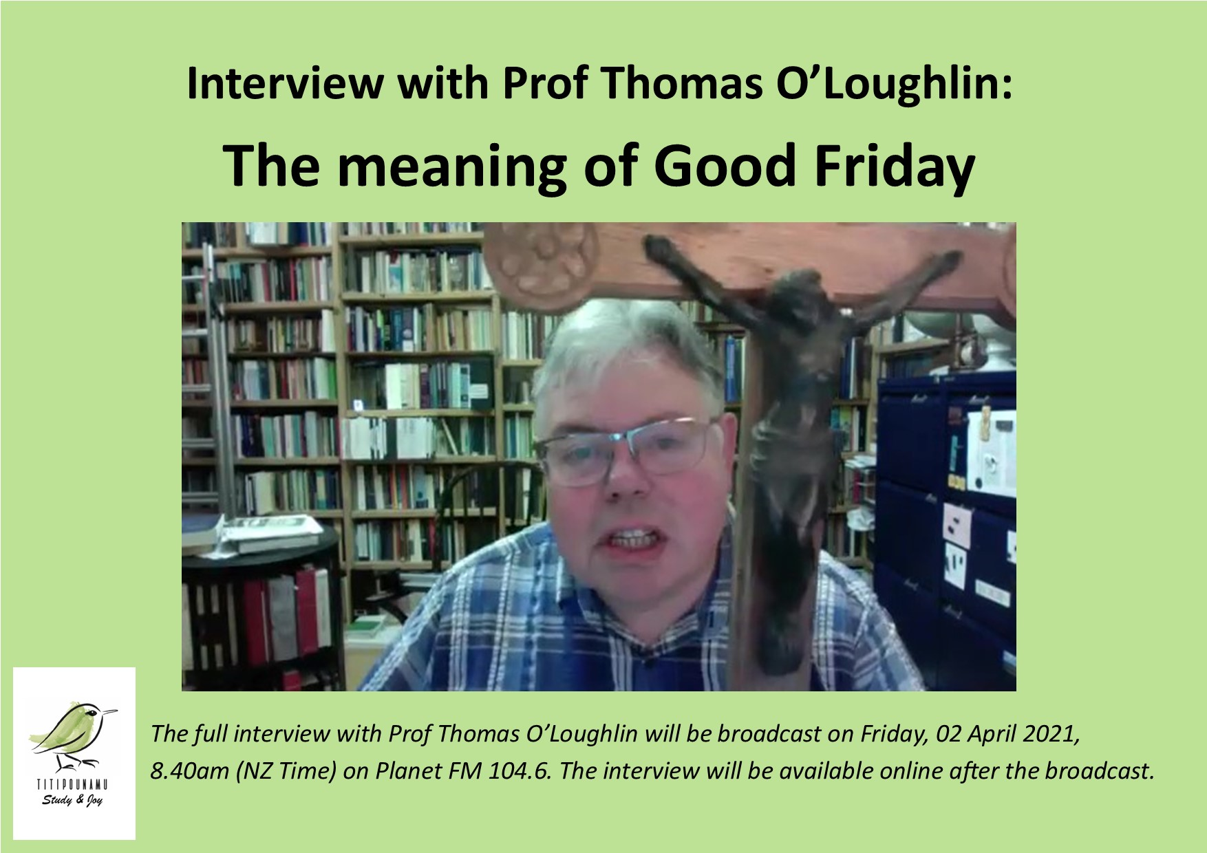 Prof Thomas O'Loughlin – Good Friday