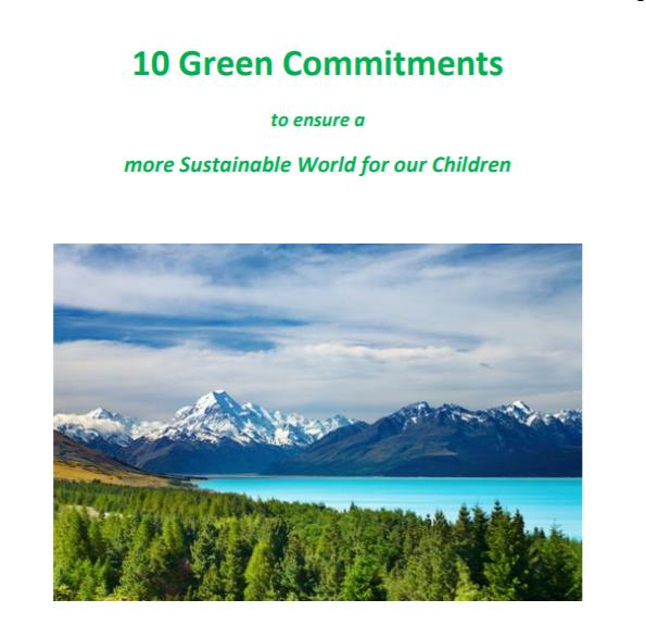 10 Green Commitments
